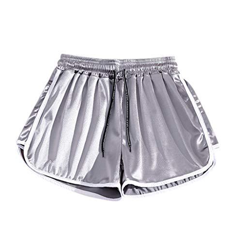 Inawayls Shorts Damen Kurz Schlafhose Kurze Sporthose Pyjamahose Kurz Hosen Yoga Running Gym Beiläufige Elastische Laufshorts Sporthose