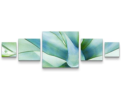 SIN-US 74 Quadro su tela 160x50cm Pianta astratta Nero, bianco Fotografia formato XXL - Stampa su tela - Quadro poltrone salotto cucina bagno mobili ufficio casa