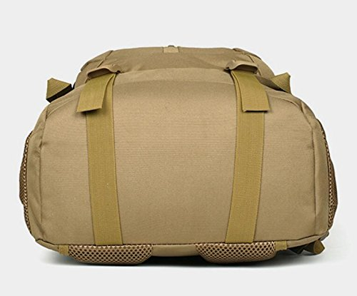 40L wasserdicht Tactical Military MOLLE Assault Rucksack groß Pack Rucksack für Camping Wandern Angeln Jagd Reisen und EDC Tagesrucksack Braun