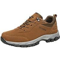 Yuanu Hombres Senderismo Zapatos Escalada Deportes al Aire Libre Senderismo Zapatillas Caminar Impermeable Zapatos de montaña Correr Zapatos Deportes Al Aire Libre