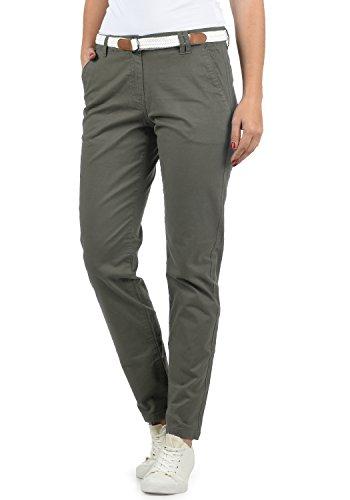DESIRES Chakira Damen Chino Hose Stoffhose Mit Gürtel Aus Stretch-Material Slim Fit, Größe:38, Farbe:Dark Grey (2890) -