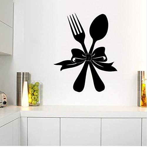 (Mhdxmp Western Geschirr Vinyl Wandaufkleber Restaurant Küche Abnehmbare DiyWohnkulturWasserdichte Tapete45 * 55 Cm)