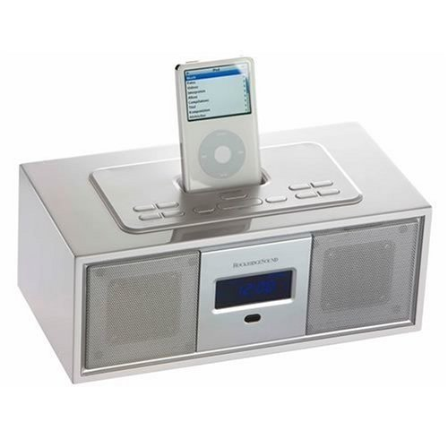 RockridgeSound Elav 3 2.1 Lautsprechersystem (Dockingstation, UKW-/MW-Tuner) für Apple iPod weiß 2.1 Ipod-docking-station