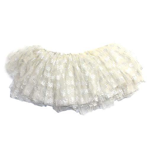 Ruiting Mädchen Tüll Tutu weiße Schneeflocke-Kind-Partei-Kostüm-Kind-Kleidung funkt Ballettrock Petticoat Produkt für zu ()