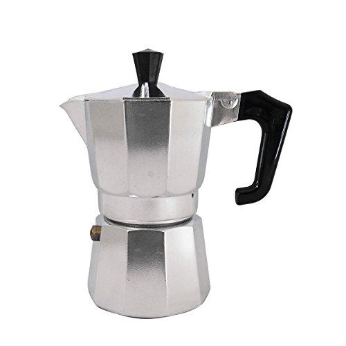 Pezzetti Caffettiera da moka espresso Giubbotto macchina per il caffè Moka salvadanaio 1,2,3,6,9,14Tazza, Alluminio, Silver, 2 Cup