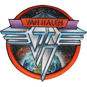 VAN HALEN, Space Logo, Officially Licensed, Iron-On / Sew-On, Embroidered PATCH - 3