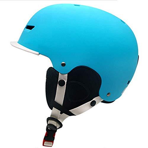 L&WB Kinderski-Helm Erwachsenenlichthelm Skisportwart Ausrüstung Schneehelfer geeignet zum Skifahren,C,S