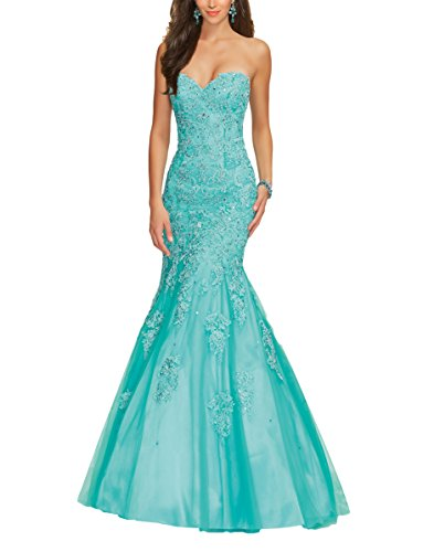 Bridal_Mall - Robe - Femme Turquoise - Turquoise