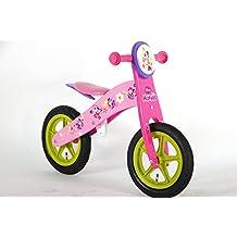 bicicleta niño Disney Minnie 3 4 5 6 años sin pedales de madera rueda de 12 pulgadas de color rosa púrpura