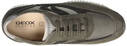 Geox Herren U Happy Art.p Low-Top Grau (anthracite/greyc9380)