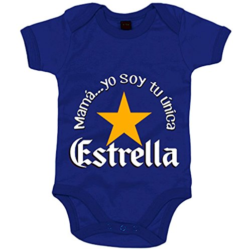 Body bebé frase mamá yo soy tu única Estrella - Azul Royal, 12-18 m