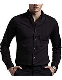 Amazon.in: Black - Shirts / Men: Clothing & Accessories
