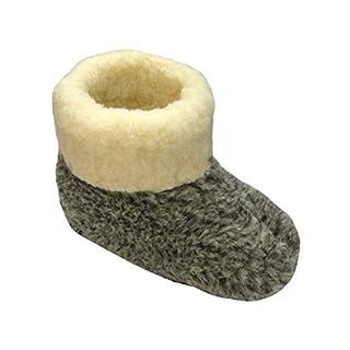 Warme Hausschuhe Hüttenschuhe aus Schafwolle Leo Gr. 45
