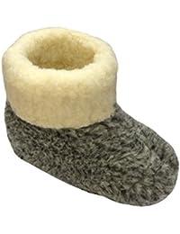 Janex Hausschuhe aus Schafwolle, Zapatillas para hombre, color gris