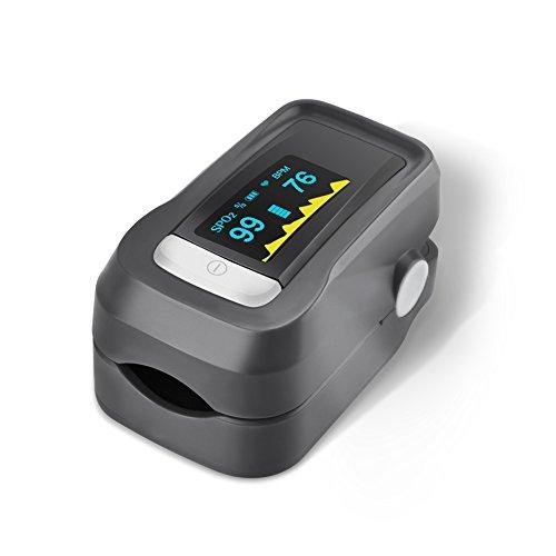 GHB Pulsímetro Oxímetro de Pulso y Monitor de Frecuencia Cardíaca con Pantalla OLED y Función de Auto-Apagado