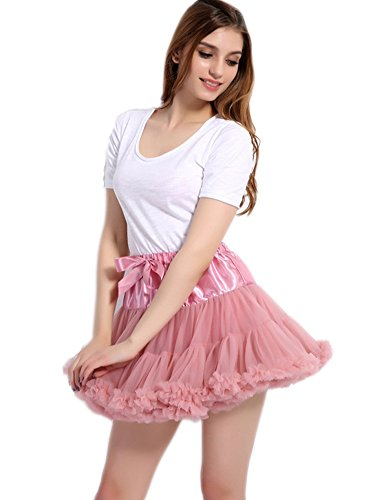 SCFL adulti lussuosa Tutu Petticoat Costume Balletto di ballo multi-strato morbido chiffon sottogonna in tulle tutu delle donne Gonna Gonna Puffy Rosa