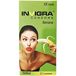 Invigra Banana Dotted Condoms