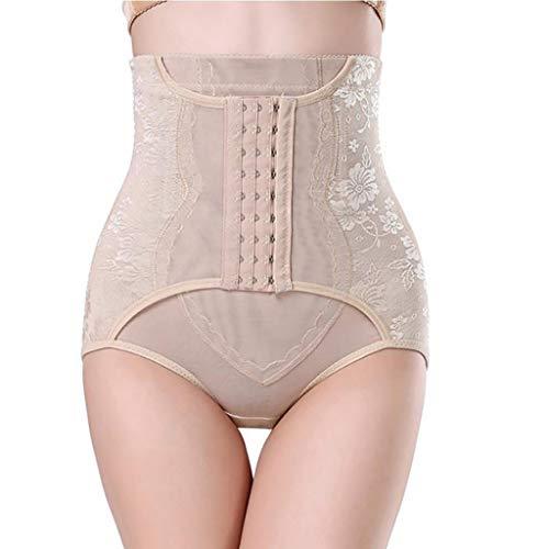 IZHH Damen Abnehmen Unterwäsche Bauch Hohe Taille Cincher Hüfte Körper Korsett Steuer Hosen Körperformung Slip(Khaki,M)