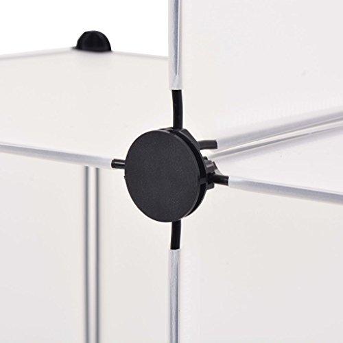 Armadio Salvaspazio In Plastica.Festnight Armadio Salvaspazio A Cubo Con 6 Scomparti Bianco Nero In