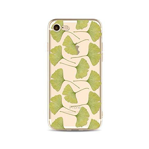 Coque iPhone 6 Plus 6s Plus Housse étui-Case Transparent Liquid Crystal en TPU Silicone Clair,Protection Ultra Mince Premium,Coque Prime pour iPhone 6 Plus 6s Plus-Les feuilles-style 19 11