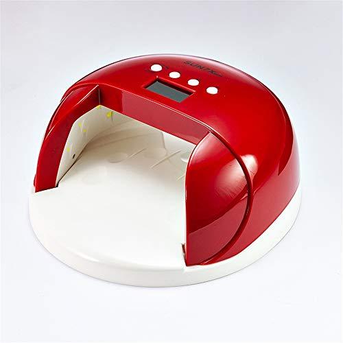 Red Fir, Red Lights (ZYC 60W Sun7x UV LED Lampe für Nageltrockner Maniküre Panda Sun Ultraviolett EIS Lampe Lack Gel Lampe Alle für Nägel Polish Light Art Tool,Red)