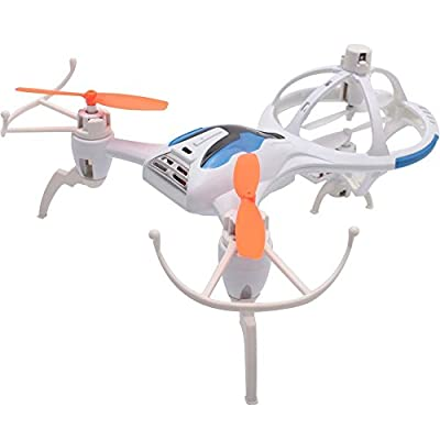 Megadream Unique SPACESHIP DESIGN M71 Stratus Quadcopter Drone with 4CH 6-Axis Gyro Drone RTF Ready-To-Fly RC Aircraft, Headless Mode, Automatic Cruise, One Key 360° Roll in 3 Ways (Backward, Left & Right) for Perfect Action and Wonderful Performance