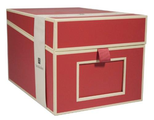 Semikolon (352543) CD und Fotobox red (rot)   Aufbewahrungs-Box mit 5 variablen Registerkarten   Box im Format 17,7 x 15,7 x 25,6 cm