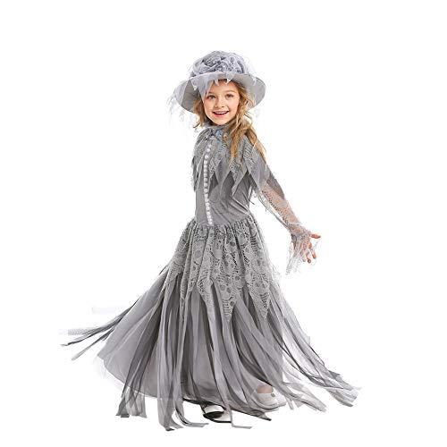 CFByxr Halloween Kostüme - Erwachsenenanzug + Kinderanzug Mädchen Retro - Stil Skelett Geisterbraut Kleid Modellierung Für Cosplay Party Maskerade Kleidung (s-XL)