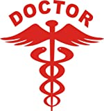 #8: 2 nos Reflective RED Doctor Decal / Sticker for any Car