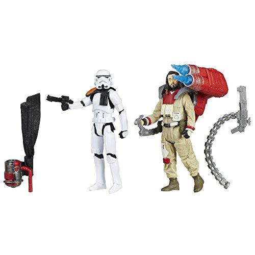 Figuras de acción B7260AS0 de Star Wars: Rogue One Baze Malbus vs Soldado de Asalto Soldado de Asalto Imperial, 9,5 cm.