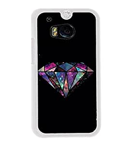 FUSON Diamond Isolated In Dark Designer Back Case Cover for HTC One M8 :: HTC M8 :: HTC One M8 Eye :: HTC One M8 Dual Sim :: HTC One M8s