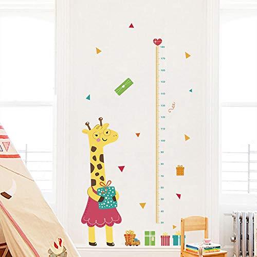 Giraffe Höhe Maßnahme Wandaufkleber Kindergarten Kinderzimmer Wohnkultur Cartoon Tiere Wachstum Chart Wand Pvc Wandbild Kunst Dekoration T11 -wangzhanping
