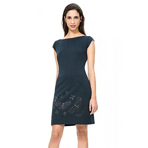 DESIGUAL - Vestito donna manica corta clotilde xxl blu chiaro