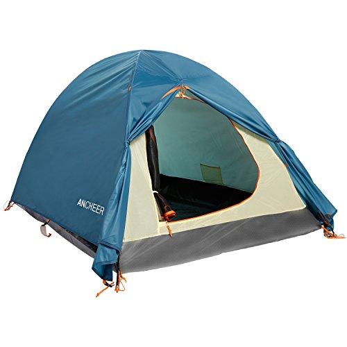 Ancheer Outdoor Zelt 2 Personen ultraleicht Wasserdicht Campingzelt Kuppelzelt Trekkingzelt 4000mm Wassersäule