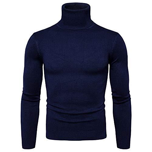Maglioni invernali da uomo, itisme basic maglione a collo alto da uomo maglione lavorato a maglia caldo maglione a maniche lunghe maglione a maniche lunghe felpa casual slim fit