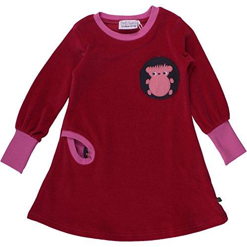 (Fred's World by Green Cotton Mädchen Kleid Hedgehog Velvet Dress, Rot (Red 019176206), 110)