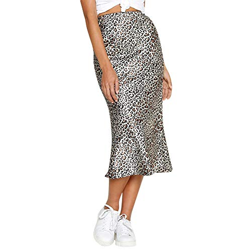 Selou Frauen Casual Retro Hohe Taille Leopard Druck Abend Party Langen Rock Damen Cocktail Club Rock Sommer Streetwear Winter Rock