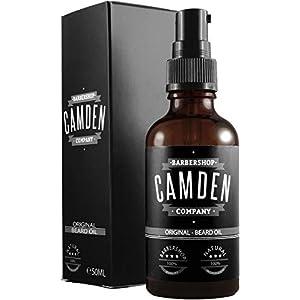 GANADOR 2020* ● Aceite para barba «ORIGINAL» de Camden Barbershop Company ● cuidado de la barba completamente natural ● refrescante y suavizante ● 50 ml