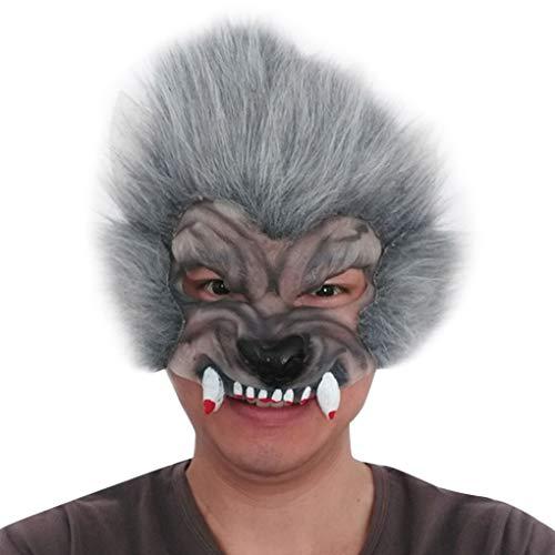 Sunlera Halloween Wildlife Maske Horrible Abendkleid-Partei Props Kopfbedeckung Feiertags-Dekoration Cosplay Zubehör