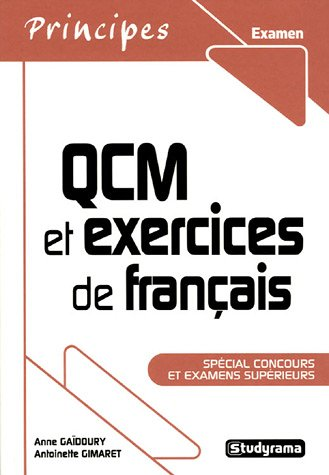 QCM et exercices de français