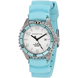 Momentum Womens Quartz Watch, Analogue Classic Display and Rubber Strap 1M-DV07WA1A