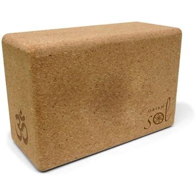 Gaiam Sol Natural Cork Yoga Block by Gaiam