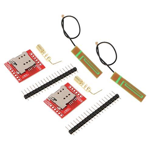 non-brand Sharplace 2 PCS Modulo gsm GPRS SIM800L Cuatribanda A Bordo  Antena para Arduino
