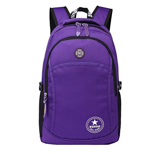 Super Modern Modischer Rucksack, Unisex, Nylon, wasserdicht, zum Wandern/ Sport, Laptoptasche, Geschenkidee zu Weihnachten Violett