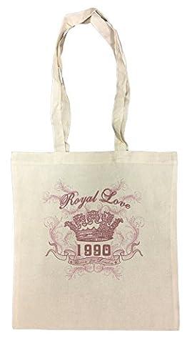 Royal Love 1990 Einkaufstasche Wiederverwendbar Strand Baumwoll Shopping Bag Beach Reusable (1990 Verein)