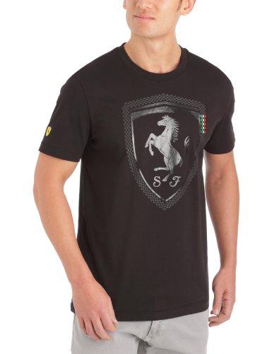 Puma Ferrari Big Logo Tee I Unisex-Erwachsene Medium schwarz - schwarz (Logo Big S/s Tee)