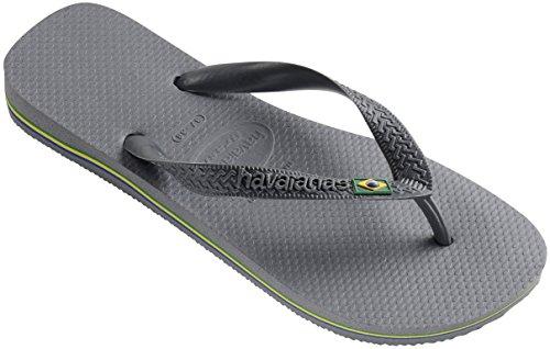 Havaianas Brasil Thong Flip Flops Steel Grey - UK 8 - BR 41/42 - EU 43/44