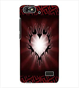 ColourCraft Love Heart Design Back Case Cover for HUAWEI G PLAY MINI