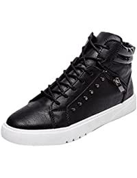 Culater Botas Hombre Moda High Top Zapatos Casuales Zapatillas Canvas con Cordones