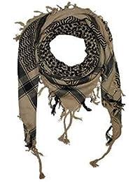 PURECITY® Cheche Keffieh Shemagh Foulard Palestinien 100% Coton - 110 cm x 110 cm - Nouvelle Collection